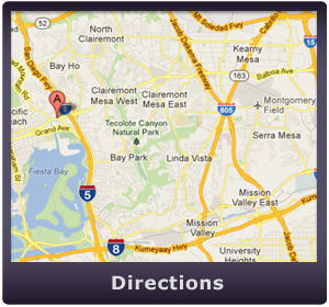 Map to our San Diego Livescan and Ink Fingerprint Location 92109